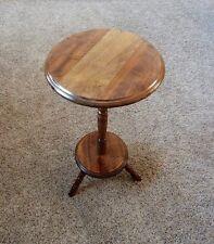 VINTAGE WOOD PEDESTAL END TABLE.....HIMARK
