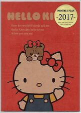 2017 Schedule Book Yearly Monthly Planner Thin B5 Hello Kitty Calendar Red