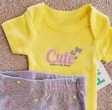 SWEET! NEW BABY CHILD OF MINE BY CARTER'S PREEMIE 2PC BUTTERFLY OUTFIT REBORN