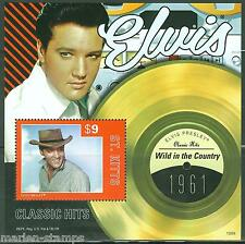 """ST. KITTS 2013 ELVIS PRESLEY """"WILD IN THE COUNTRY""""  CLASSIC HITS SOUVENIR SHEET"""