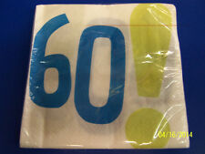 Woohoo 60! White Over the Hill Adult 60th Birthday Party Paper Luncheon Napkins
