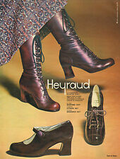Publicité Advertising 1970  HEYRAUD chaussures bottes souliers collection mode .