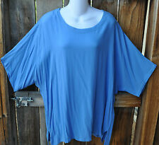 "ART TO WEAR MISSION CANYON 11 SINGLET TUNIC IN SOLID CHAMBRAY BLUE, OS+,52""B"