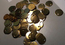 10 BRASS METAL DISCS CIRCLES BLANKS  19mm with HOLE