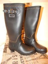 Pour La Victorie Tall Black Studded Ted Rubber Rain Boots-39-$299 MSRP