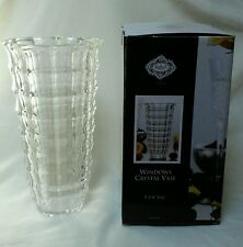 """SHANNON by Godinger WINDOWS CRYSTAL VASE 9-3/4"""" TALL NEW in BOX Gorgeous GIFT"""