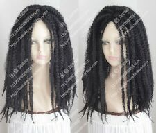 new wig Dreadlocks African American blackLONG BRAIDED SINGLE PLAIT/TWIST
