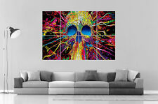 SKULL TETE DE MORT MULTICOLOR Wall Art Poster Grand format A0 Large Print