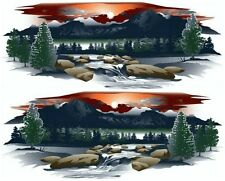 2 RV TRAILER TRUCK MOUNTAIN SCENE DECALS GRAPHICS -930-3