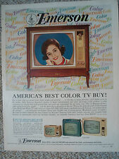 1964 EMERSON Color Console TV Color Magazine Ad