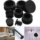 Black Plastic Blanking End Caps Cap Insert Plugs Bung For Round Pipe Tube FO