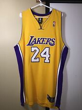 100% Authentic Adidas Kobe Bryant Lakers NBA #24 Gold Jersey Size 48 XL