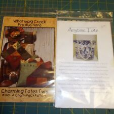 LOT OF 2 TOTE/PURSE SEWING PATTERNS - COMPLETE & UNUSED