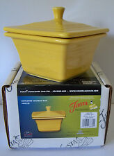 Belk Store Exclusive Fiesta Square Covered Box, Candy Dish Sunflower New In Box