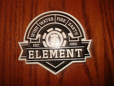 ELEMENT ESTABLISHED BADGE LOGO DIE CUT SKATEBOARD STICKER