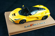 1/18 BBR FERRARI LAFERRARI GIALLO TRISTATO MATT DELUXE BROWN LEATHER LE 25 MR