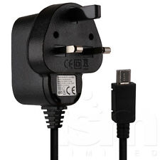 FOR BLACKBERRY Q10 / Z10 PHONE - MICRO USB 3 PIN UK MAINS WALL PLUG CHARGER LEAD