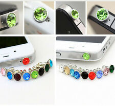 10Pcs Alloy Rhinestone Anti Dust Cap Earphone Jack Plug Stopper Cell Phone 3.5mm