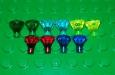 *NEW* Lego Rare Green Blue Yellow & Red Gems Jewels Figures Minifigs 10 pieces