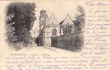 PIERREFONDS 13 l'église timbre rouge 10 cent. 1902