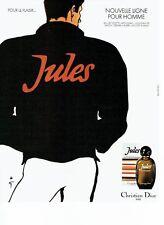 PUBLICITE ADVERTISING 027  1980  Dior  eau toilette homme Jules René Gruau