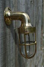 SUPERB SMALL SOLID BRASS SHIP GANGWAY LIGHT NAUTICAL BULKHEAD WALL LAMP B