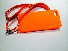 iPhone SE and 5/5s Orange case with Adjustable Detachable Safety Lanyard