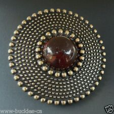 3D AMBER EYE COLOR STONE FLORAL FLOWER ROUND WESTERN BELT BUCKLE BUCKLES