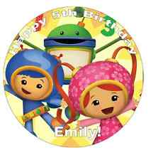 """Team Umizoomi Personalised Cake Topper 7.5"""" Edible Wafer Paper Birthdays"""