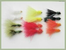12 Mini Fritz Trout Fly, Gold Head, mixed colours, size 12, Fly Fishing