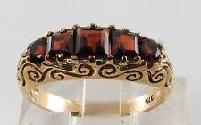 LOVELY 9CT GOLD AAA MADAGASCAN GARNET ART DECO INS ETERNITY RING FREE RESIZE