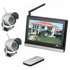 "Wireless 4CH 7"" TFT LCD HD Home System Video Baby Monitor Remote + 2xIR Cameras"