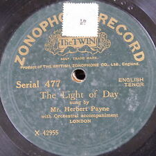 78rpm HERBERT PAYNE the light of day / the blind boy ZONOPHONE 477