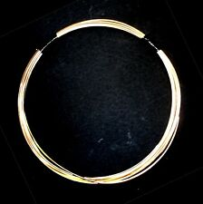 10 FT Merlin's Gold for wire wrapping, 22G Round DS - solid bronze metal!