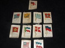 ELEVEN TOBACCO SILK FLAGS