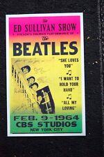Beatles Tour Poster 1964 Ed Sulivan Show