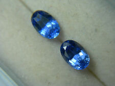 2 rare top BLUE CEYLON SAPPHIRE beautiful gems oval Gemstone Genuine Sri Lanka