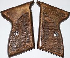 Mauser HSC 32 380 pistol grips dark brown plastic