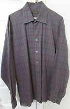 Ermenegildo Zegna Men's Long Sleeve Button Front Casual Shirt XL