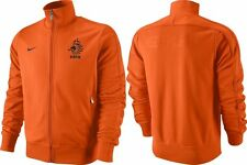 Men's NIKE DUTCH Team Football Jacket Full Zip Orange Color Size S - BNWT
