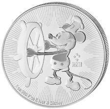 Disney Mickey Micky Maus Mouse 1 oz 2$ Niue Island 999 Silber Silbermünze VVK