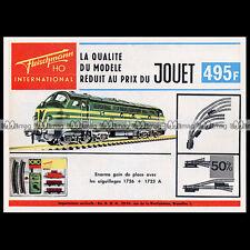 FLEISCHMANN HO Train Electrique  '1010' (1965) : Pub Publicité Advert Ad #B552