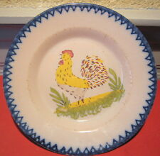 faience assiette Charolles Saint Clement decor coq
