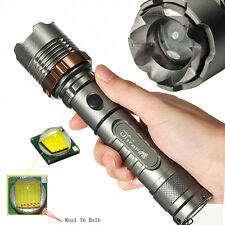 Tactical 3000 Lumen Zoomable CREE XML T6 LED 18650 Flashlight Focus Torch Lamp