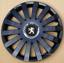 "Black Metallic  14"" wheel trims, Hub Caps, Covers to Peugeot 107 (Quantity 4)"