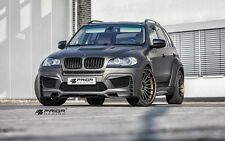 BMW E70 X5 FULL WIDE BODY KIT FRONT/REAR BUMPER VENTED HOOD LIP SPOILER FLARES M