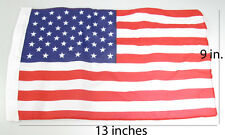 Lot of 12 USA US U.S. American Polyester Stick Flag Stars 13 in.x9 in. Sewn edge