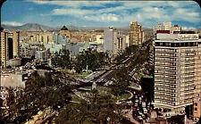 México Mexiko Briefmarke & AK 1970 Paseo de la Reforma Hotel Plaza Vista Hermosa