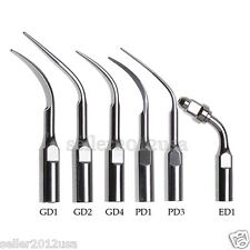 6x Dental Scaler Tips fit DTE SATELEC NSK Ultrasonic Piezo Scaler Handpiece