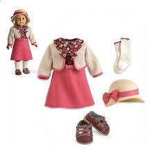 "American Girl KIT SCHOOL SKIRT SET  18"" Dolls Sweater Pink Dress Hat Outfit*"